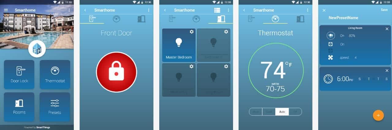 Smarthome app screenshots