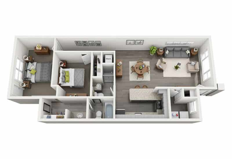Carriage Pines 2 bedrooms style b floor plan