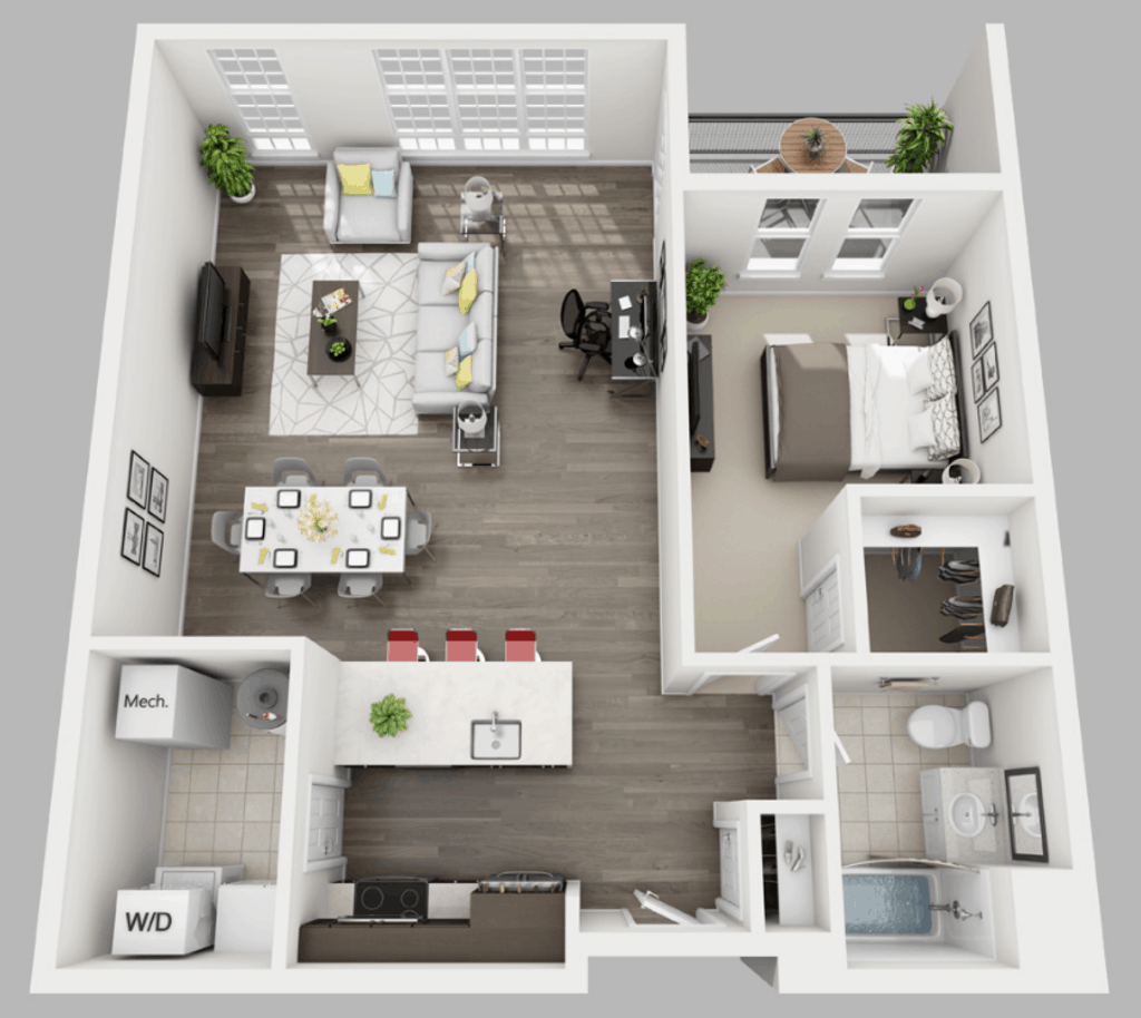 Empire Run 1 bedroom style c floor plan
