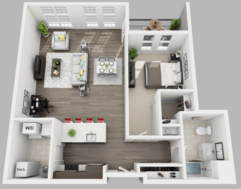Empire Run 1 bedroom style e floor plan