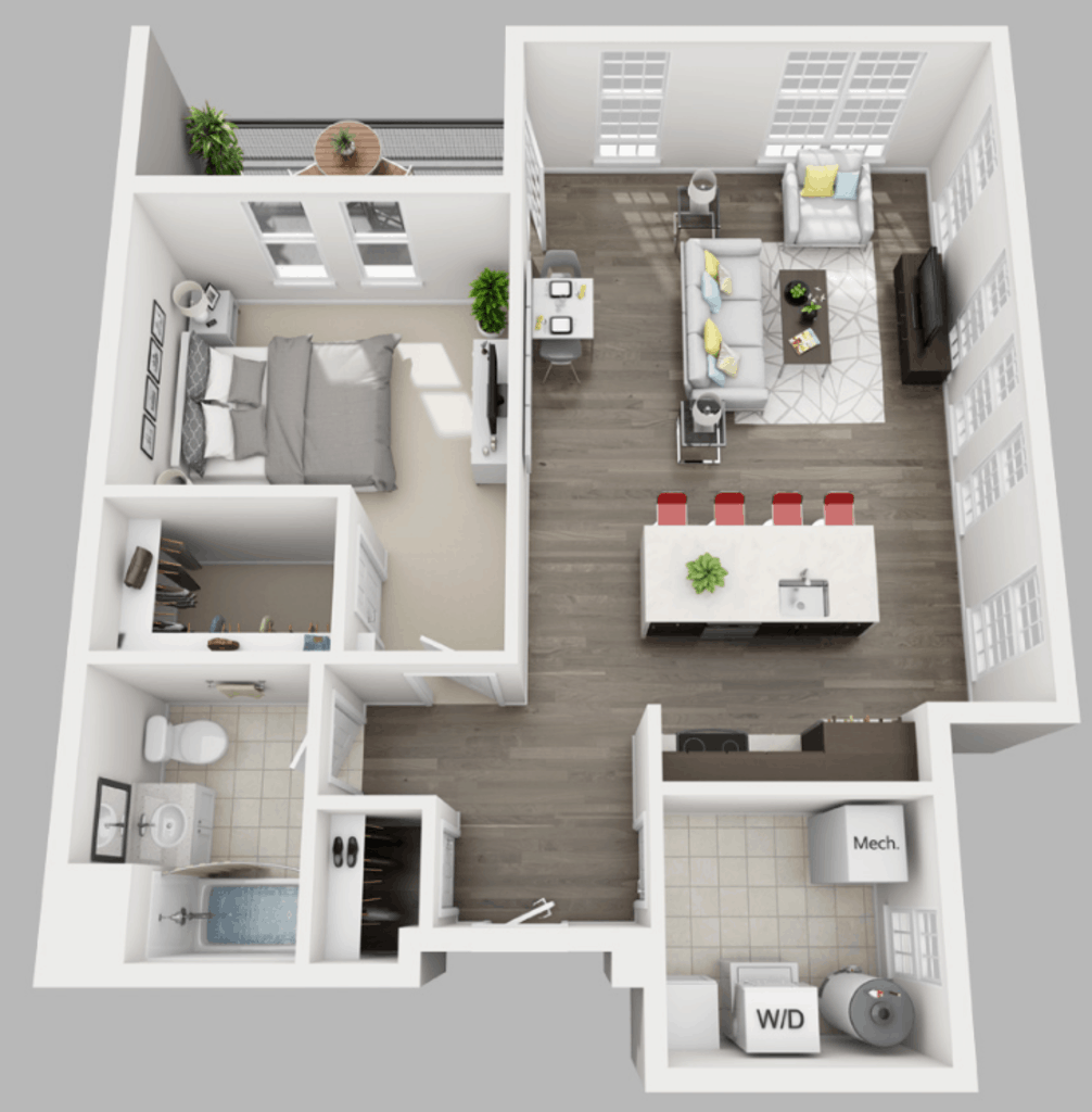 Empire Run 1 bedroom style f floor plan