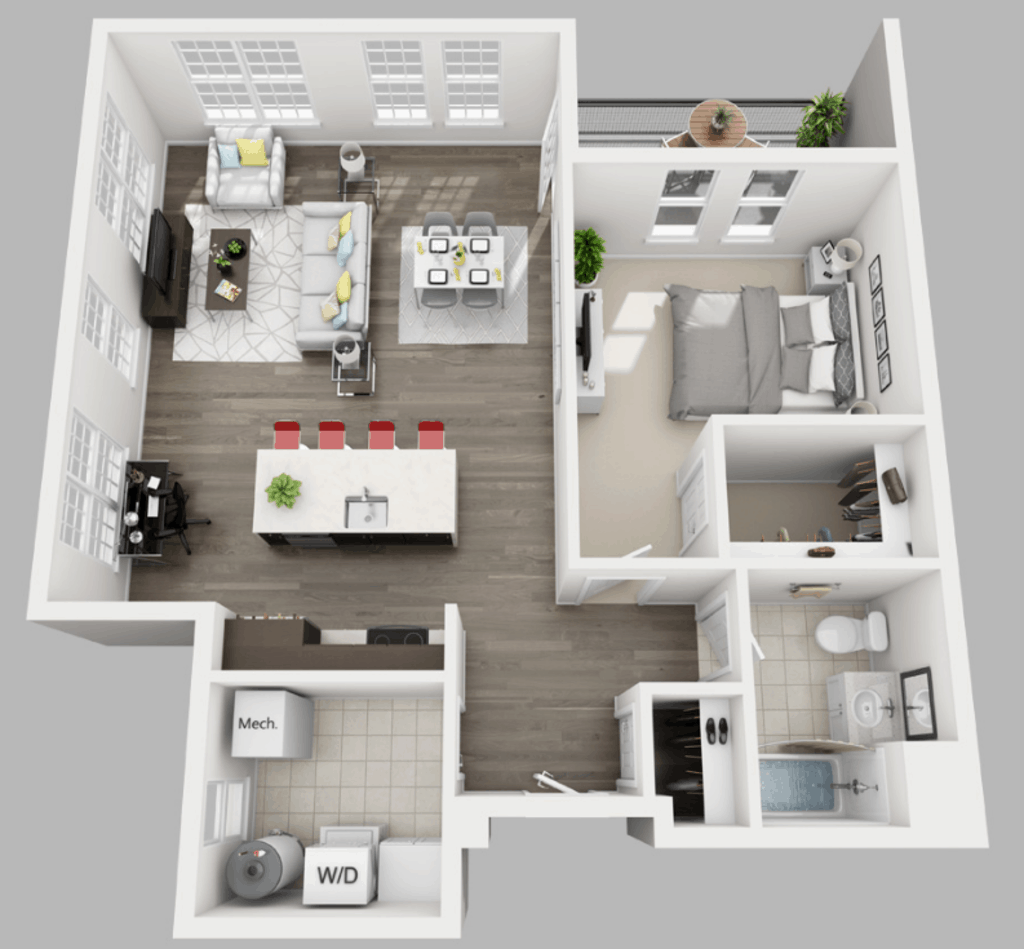 Empire Run 1 bedroom style g floor plan