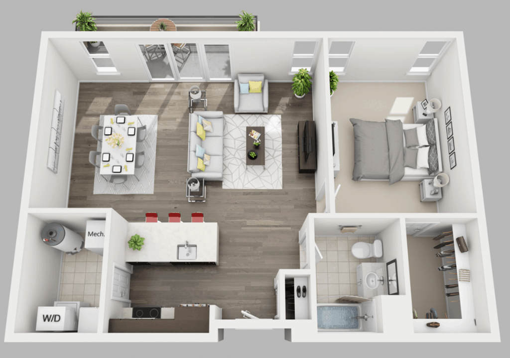 Empire Run 1 bedroom style h floor plan