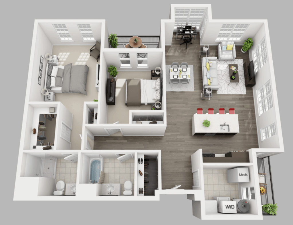 Empire Run 2 bedrooms style b floor plan