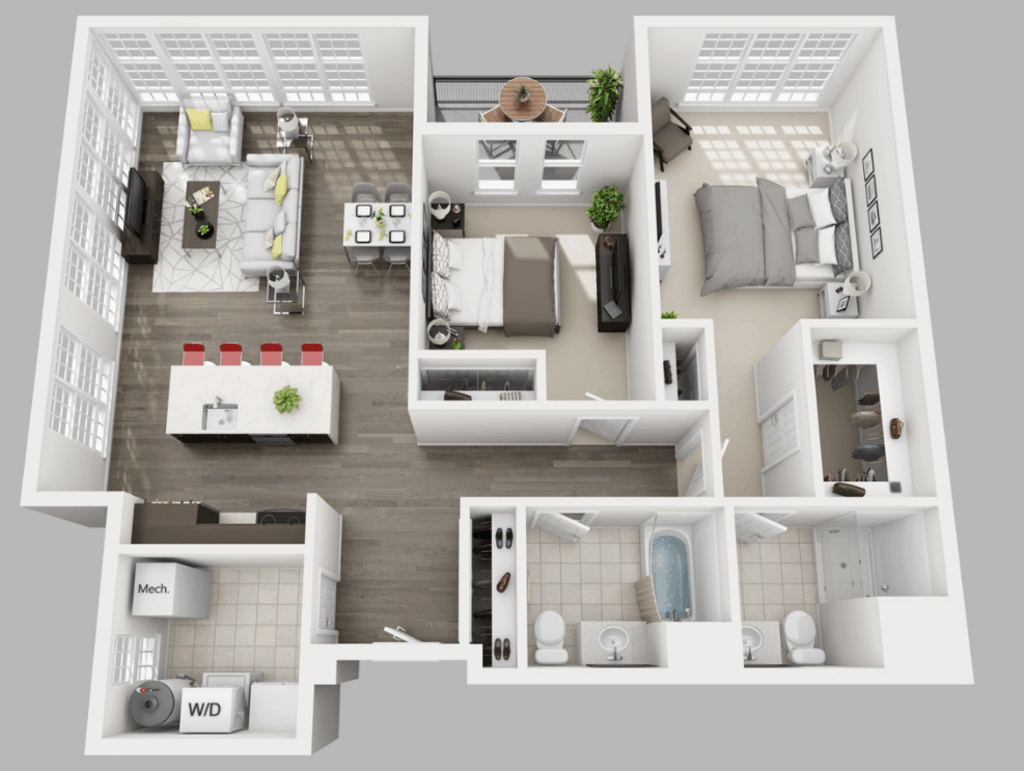 Empire Run 2 bedrooms style c floor plan