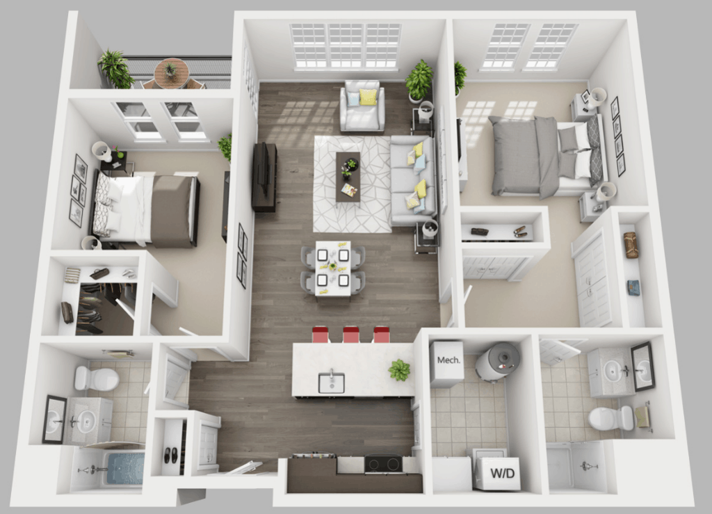 Empire Run 2 bedrooms style e floor plan
