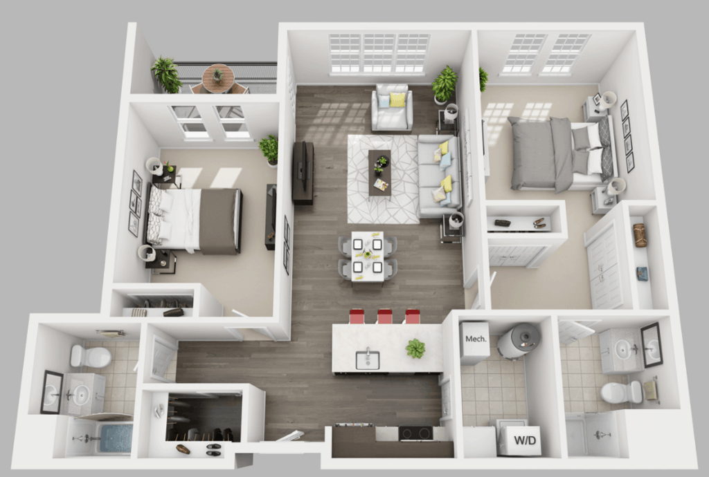 Empire Run 2 bedrooms style f floor plan