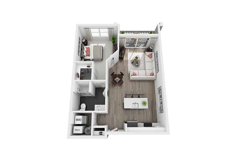 Excelsior Park 1 bedroom style b floor plan