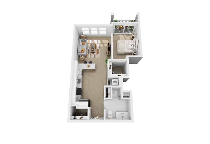 Excelsior Park 1 bedroom style f floor plan