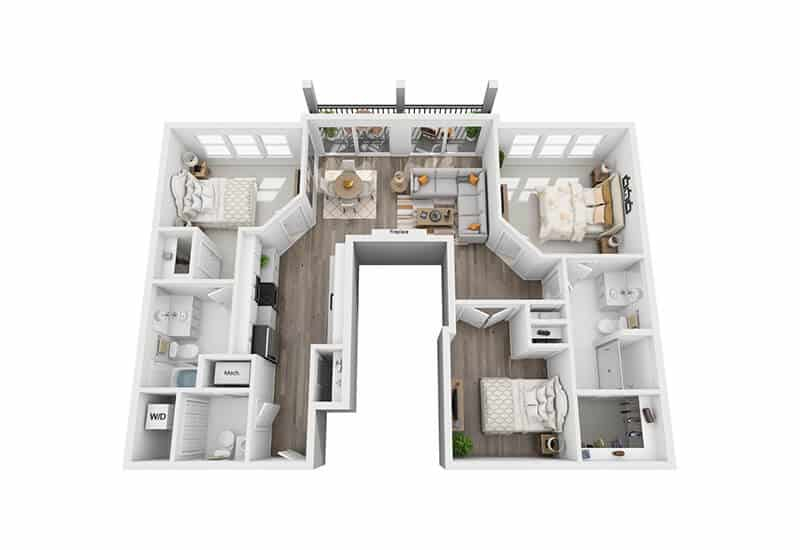 Excelsior Park 3 bedrooms style a floor plan