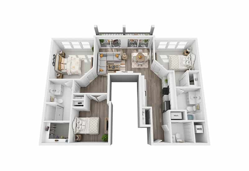 Excelsior Park 3 bedrooms style b floor plan