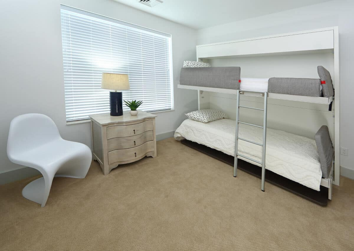 Unique built in bedding options