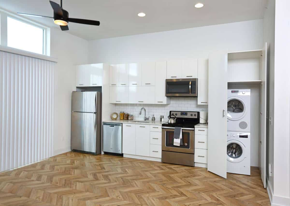 Efficient studio layouts with full amenities