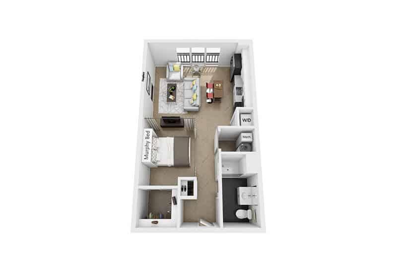 Excelsior Park studio style a floor plan