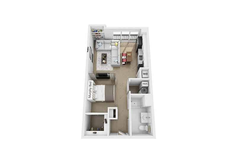Excelsior Park studio style b floor plan
