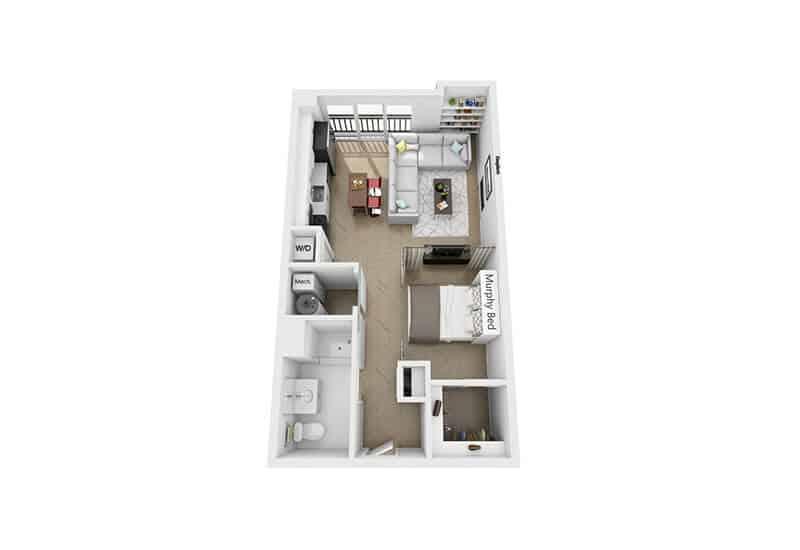 Excelsior Park studio style c1a floor plan