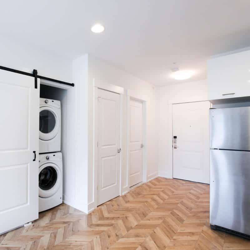 Washer/dryer unit in kitchen