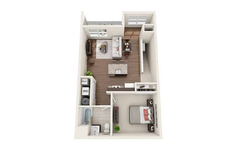 Iroquois Village 1 bedroom style c floor plan