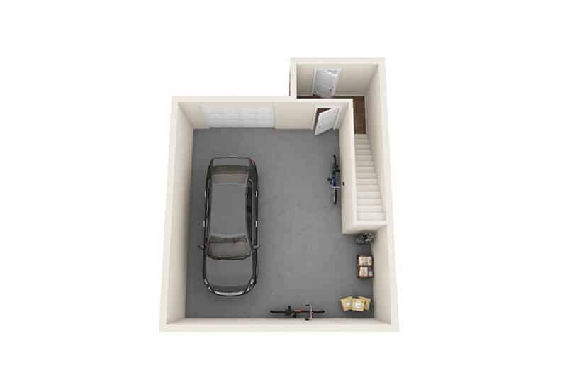 Iroquois Village garage floor plan