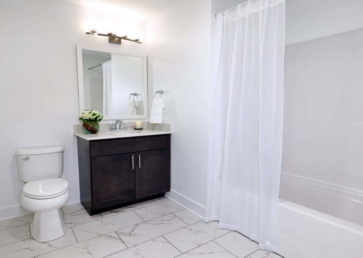 Beautiful large baths in renovated units