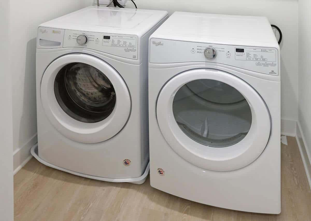 Washer and dryer in select units
