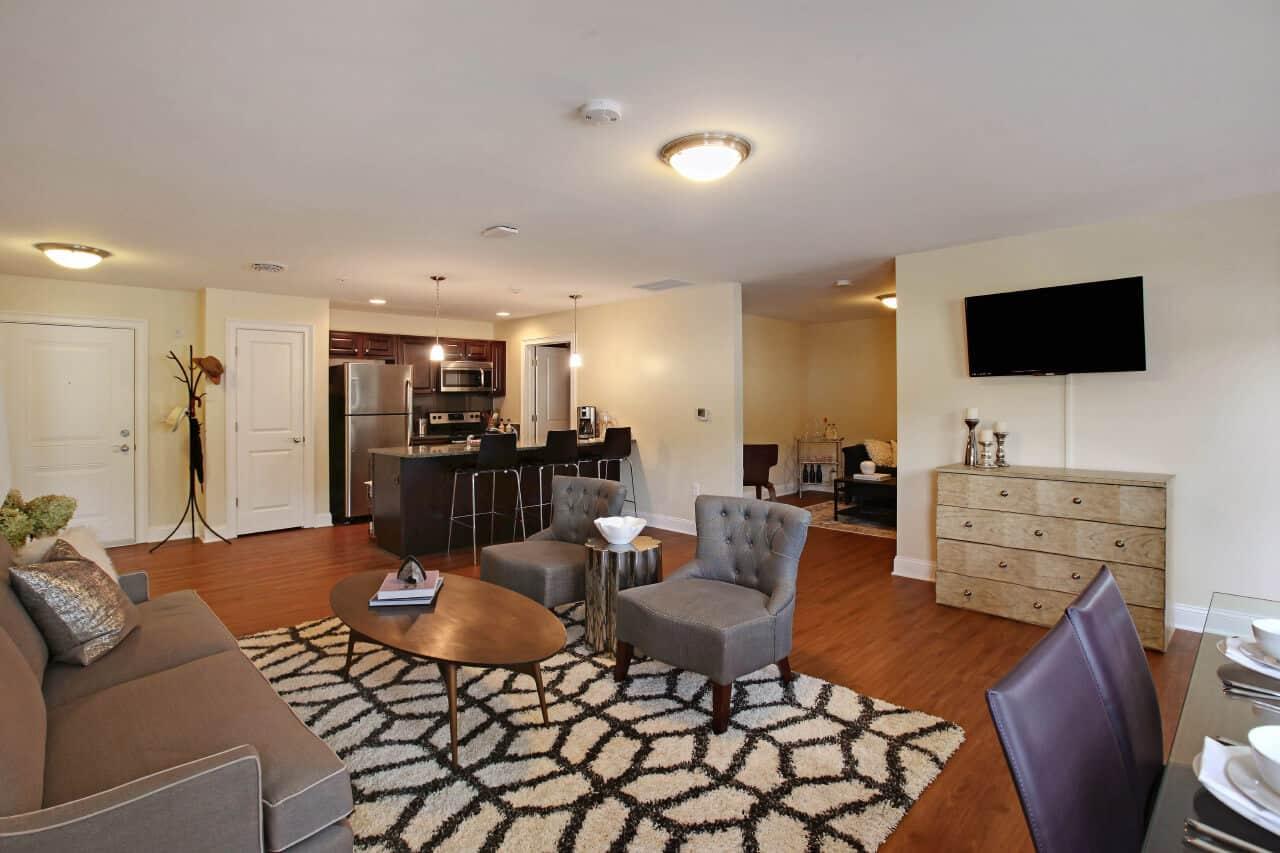 Apartment interior living space
