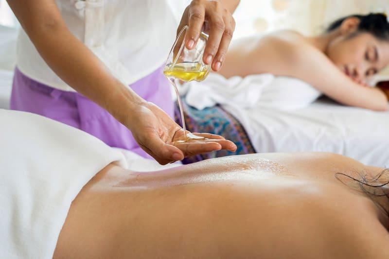 Women getting massages