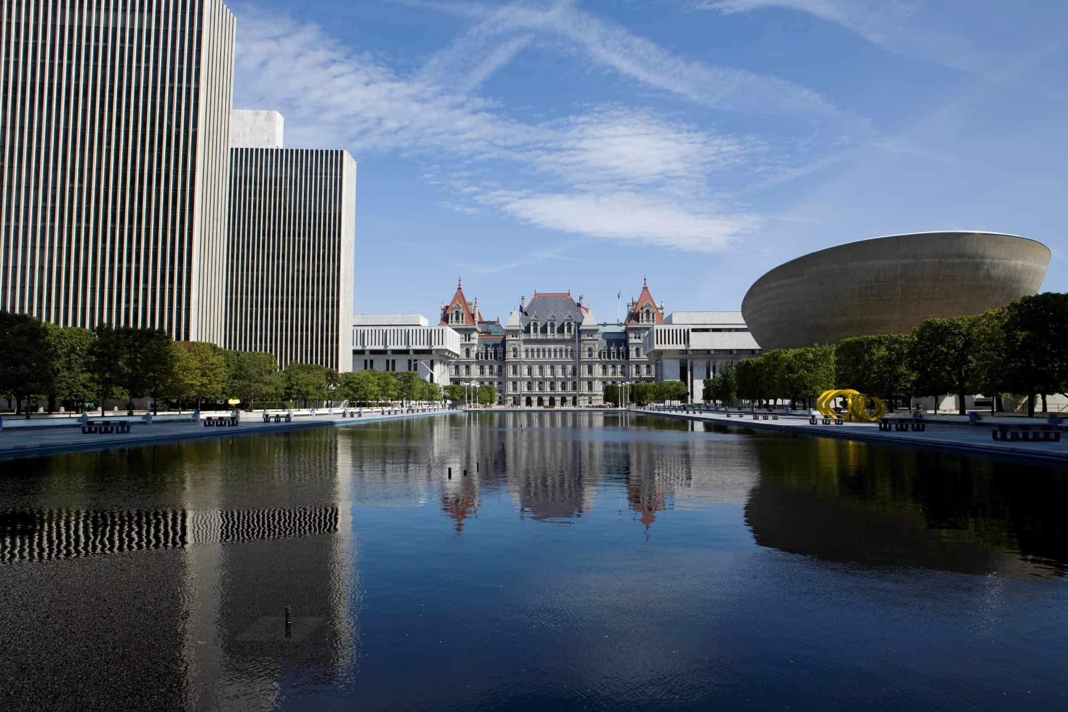 Empire State Plaza in Albany New York