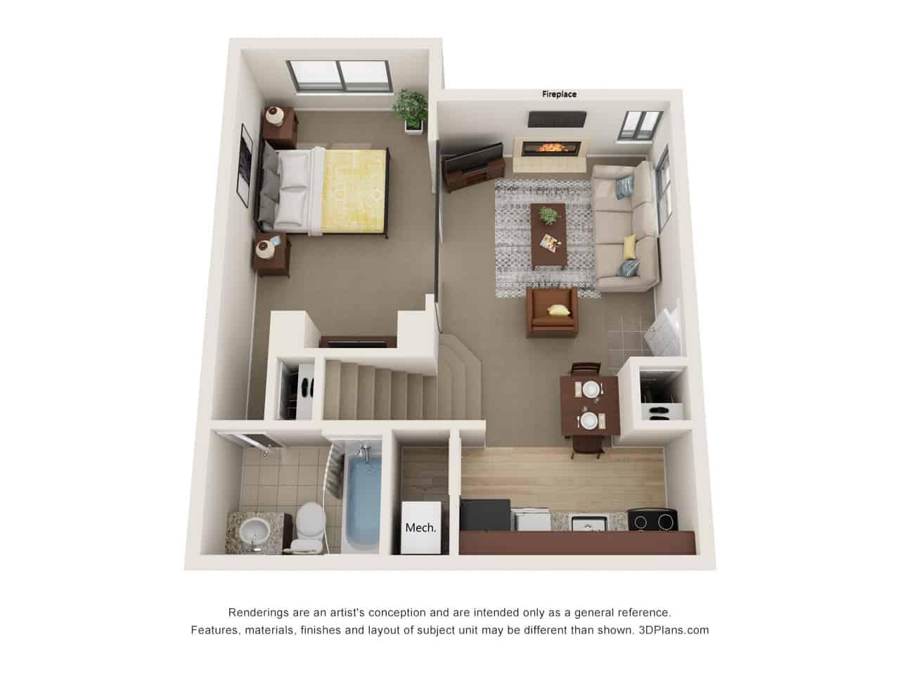 2 Bedroom - 1st Floor
